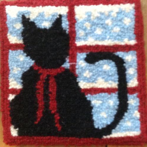 6''x 6'' Black Cat