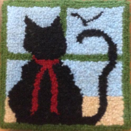 6x6'' Black cat