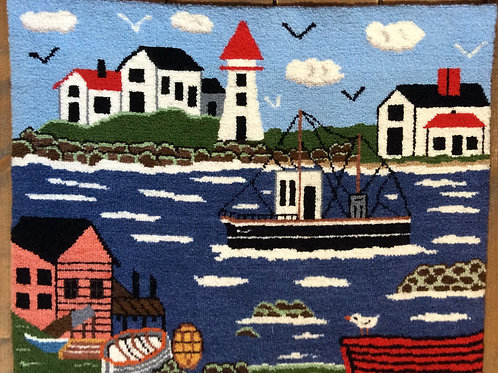 19''x 24'' Fishing boat village