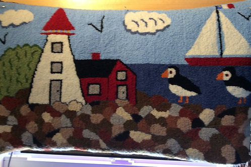 15'' x 26'' Light House/Puffin