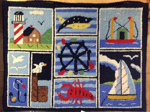 14''x 19  9 panel Nautical