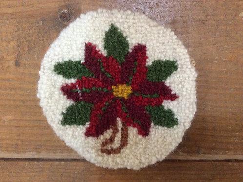 4''Rd Poinsettia Flower Coaster
