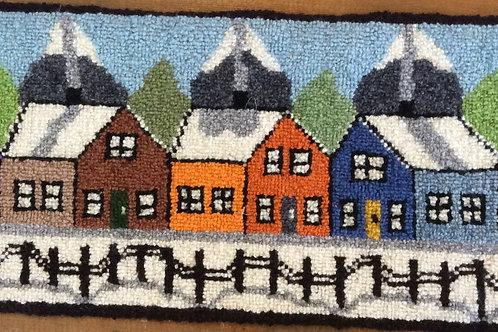8.5''x22.5 5 winter Houses
