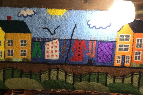 12''x 28''Washline/Houses