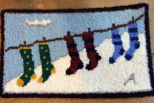 7''x 12'' Socks on line by Mom