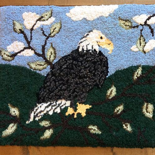14''x 17'' Eagle Rag Rug