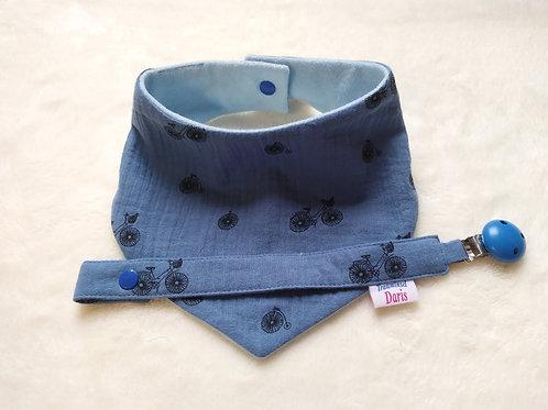 Halstuch und Schnullerband mit Namen für Jungen, Babyset für Geschenk