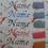 Thumbnail: Schnullerband mit Namen aus Baumwollstoff