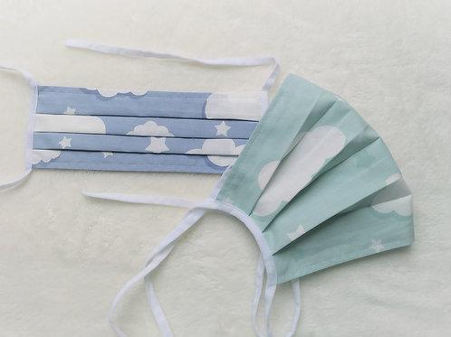 Mundschutz Maske, genäht ,aus 100% Baumwollestoff