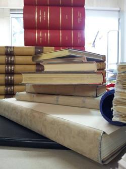 série de livres en cours de reliures