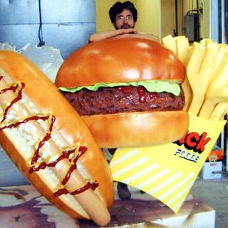 ハンバーガー 立体サイン