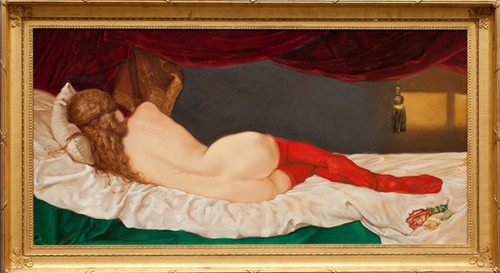 Clio with Red Stockings