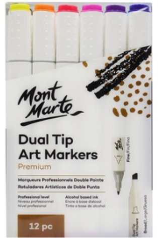 Dual Tip Alcohol Art Markers 12pc