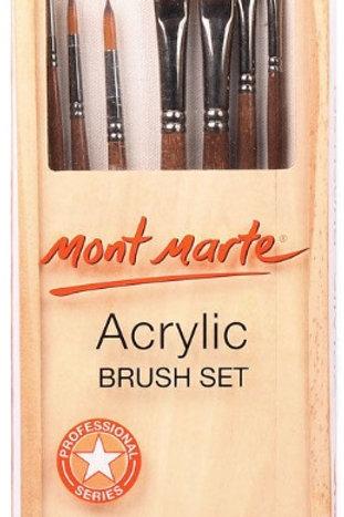 Acrylic Brush Set in box 7pc