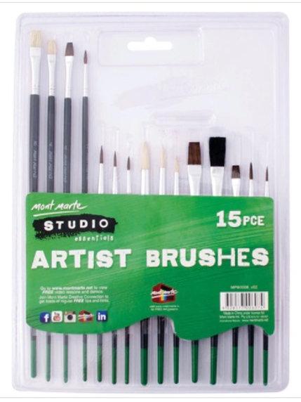 Studio Artist Brushes 15pc