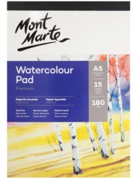 180gsm Watercolour Pad A5 15 Sheets