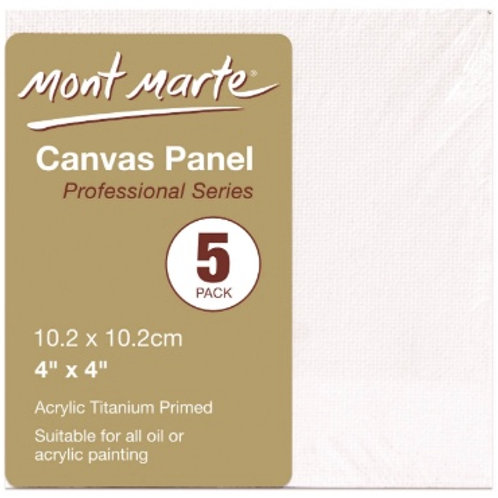 Canvas Panels Pack 5 10.2x10.2cm