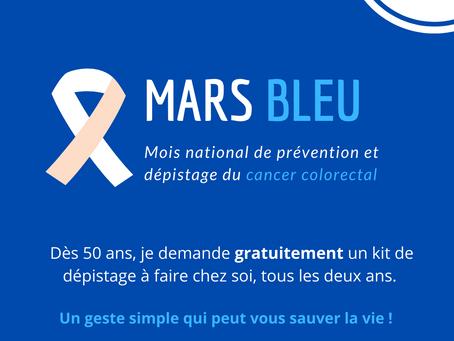 Mars Bleu : dépistage contre le cancer colorectal