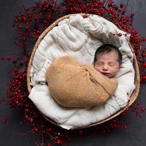 Sweet holiday newborn baby