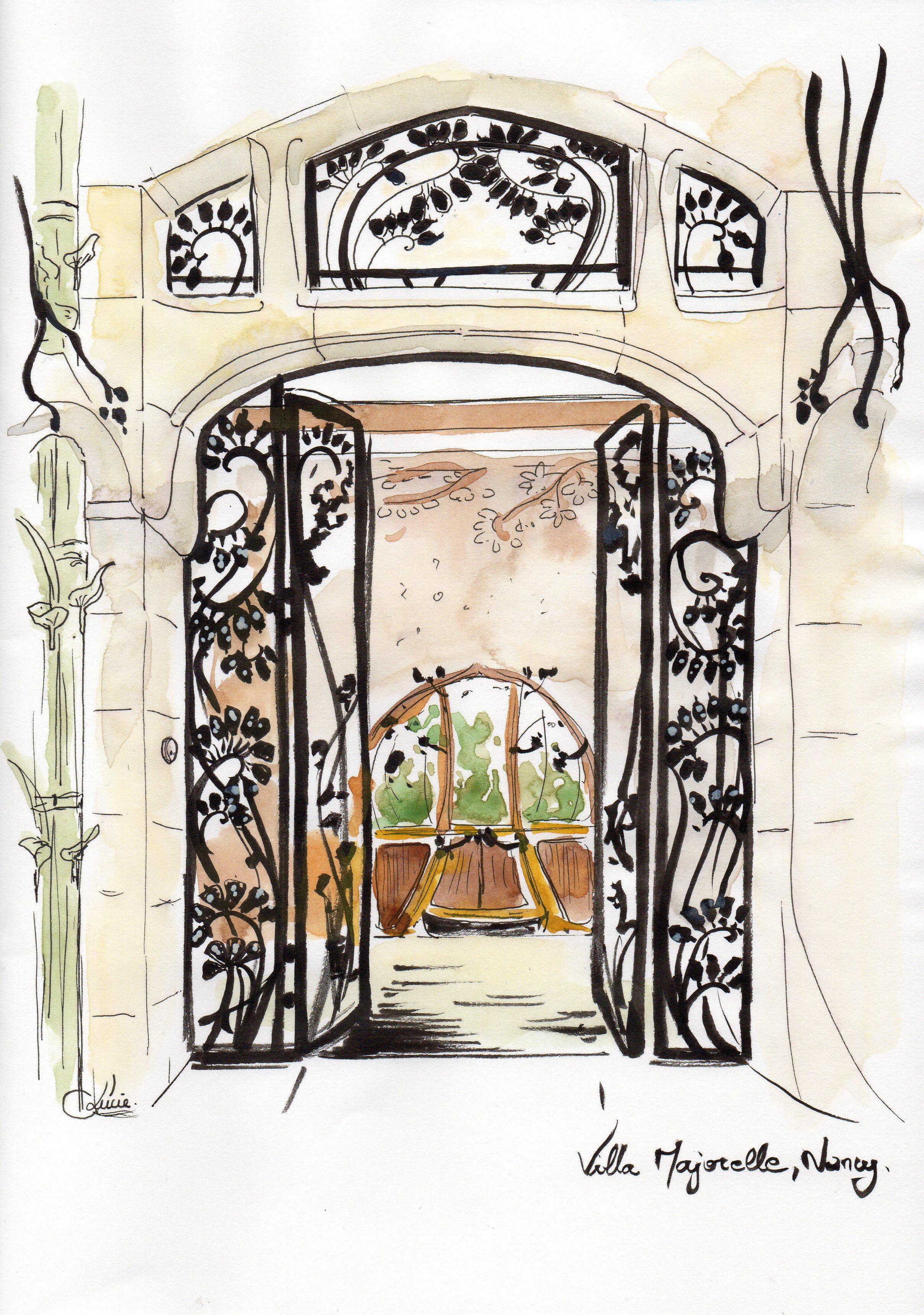 Perron d'entrée - Villa Majorelle