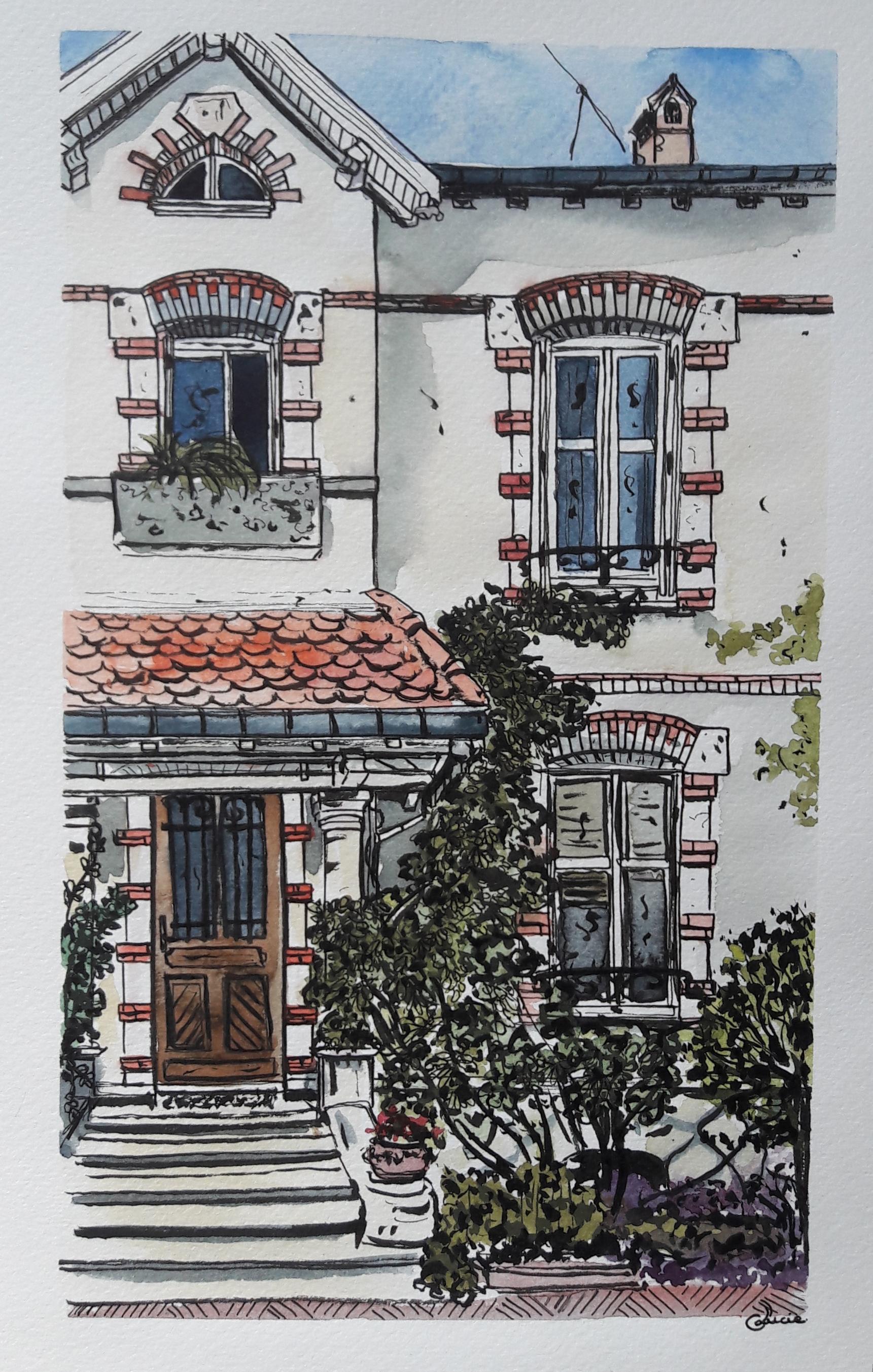 Maison nancéienne -15x25 cm - mai 2020