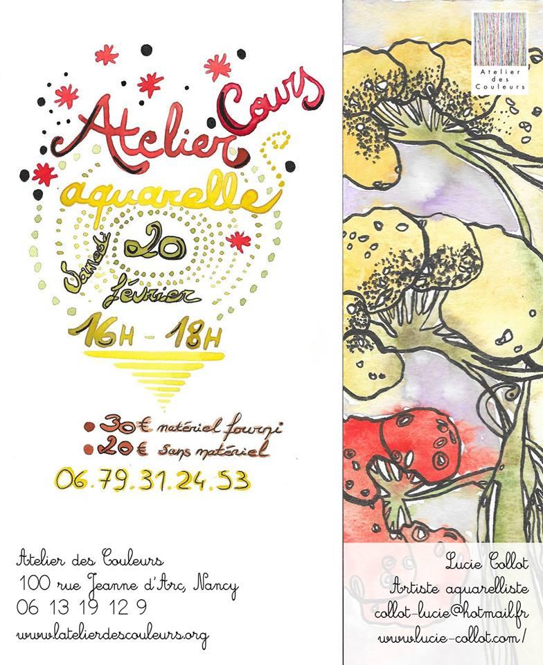 Atelier aquarelle - Lucie COLLOT