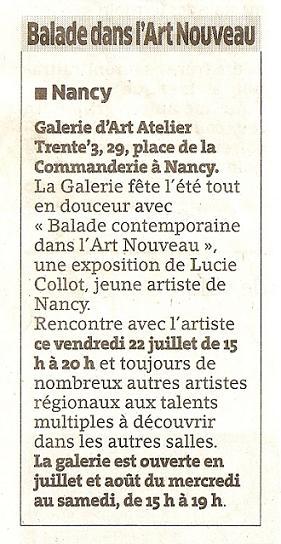 Exposition à la Galerie Atelier33