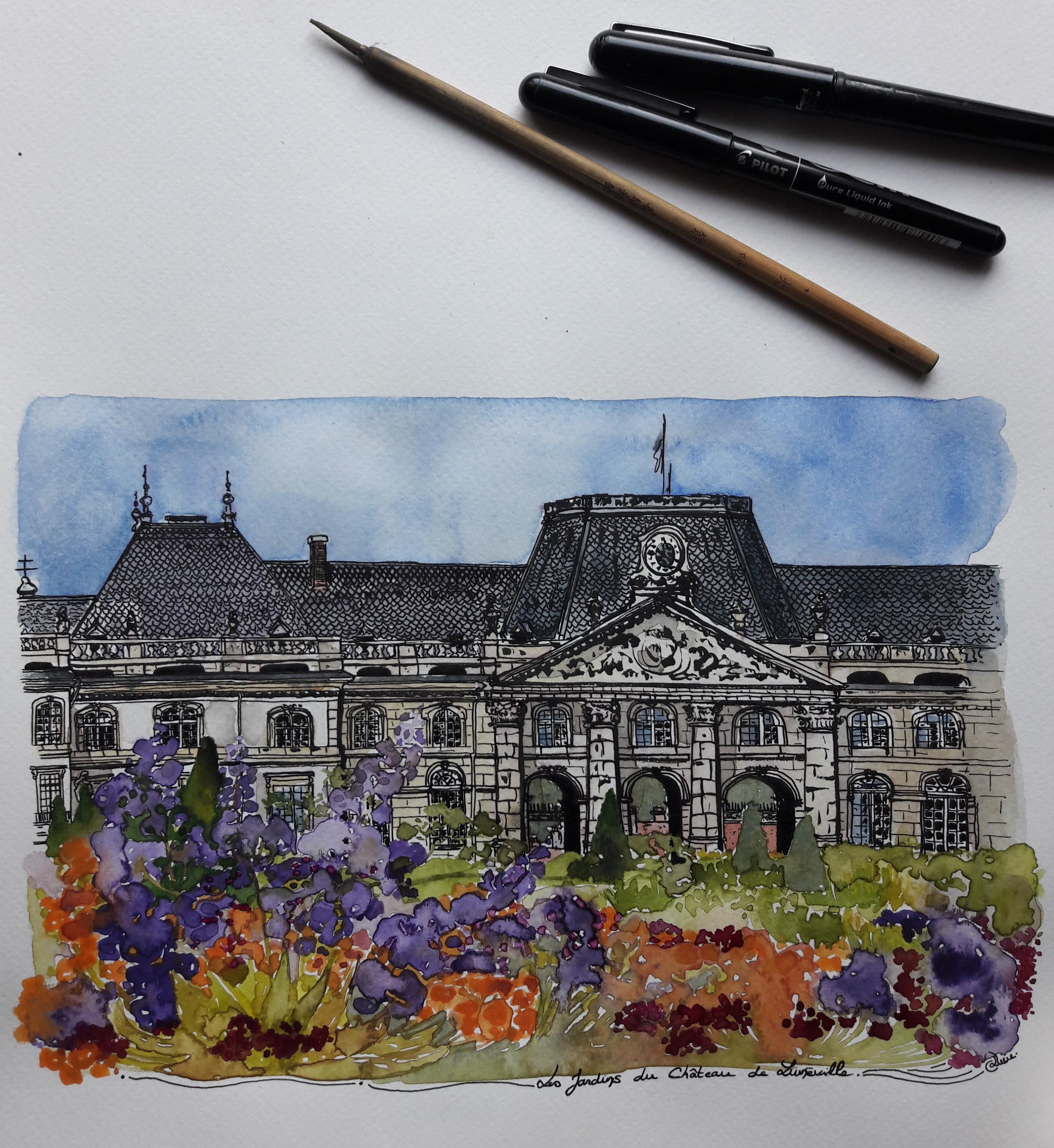 Jardins du château de Lunéville - avril
