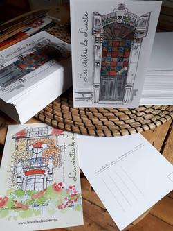 Cartes postales des Visites de Lucie