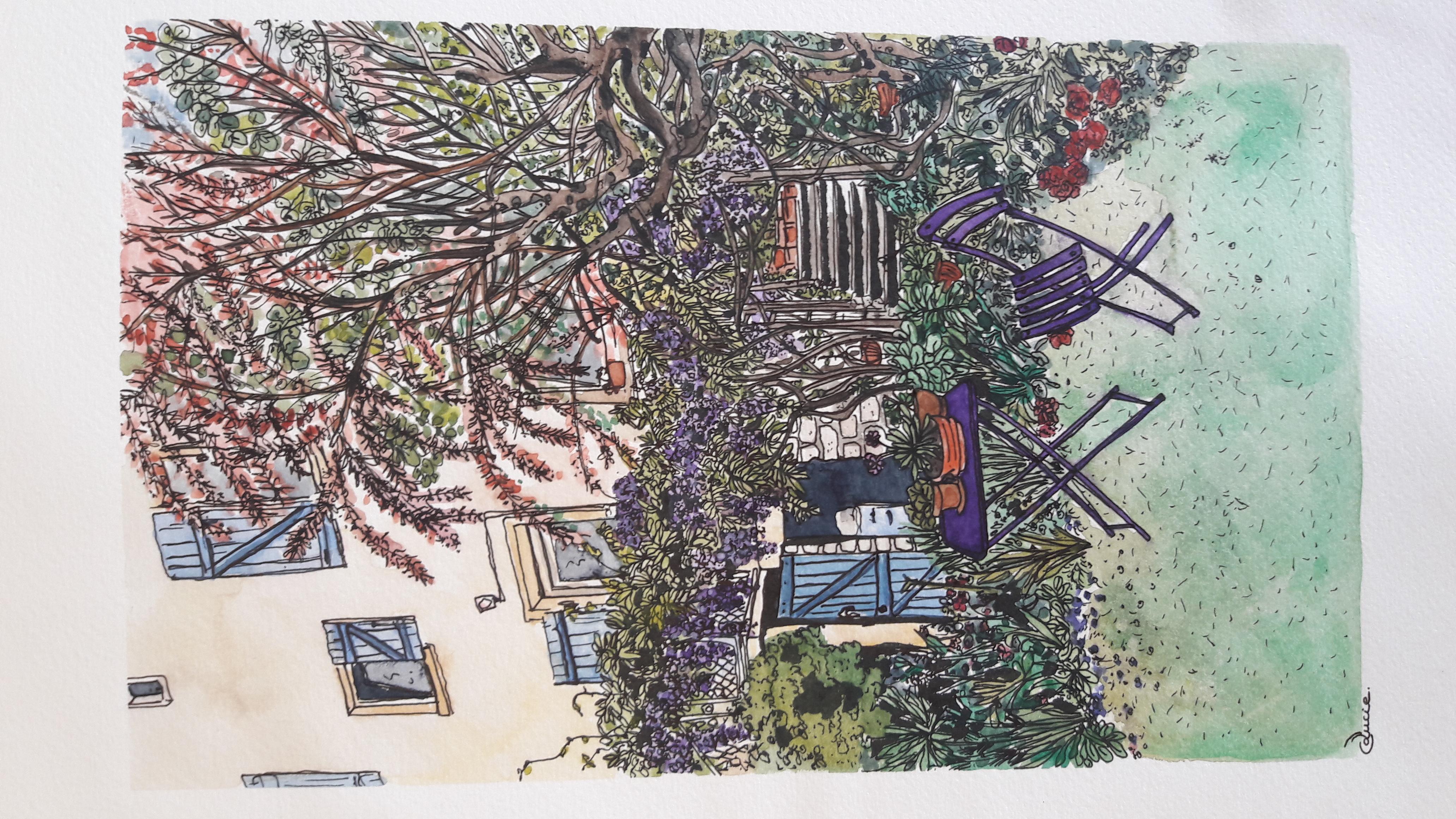 Jardin à Bar-le-duc - 15x25 cm