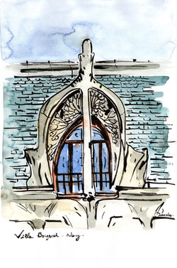 Lucarne de la Villa Bergeret