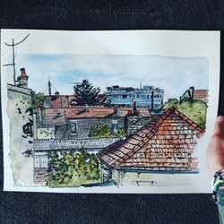Les toits du quartier de la Commanderie