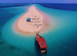 Drone shot of Sandbank