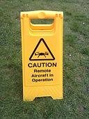 UAV in operation warning