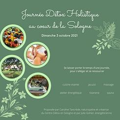 Titre Journée Détox Holistique au Cœur de la Sologne – Dimanche 3 octobre 2021 Détox Holis