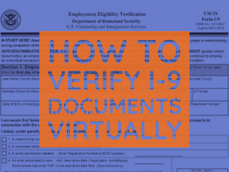 How to Verify I-9 Documents Virtually