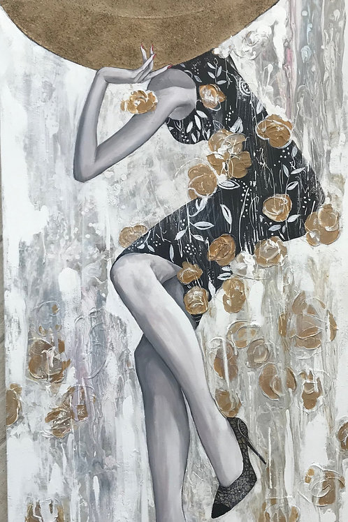 Her Shoes 48x24 Mariana Kalacheva