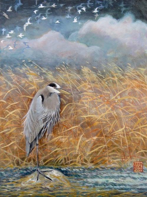 """""""Along in a Winter Marsh"""" 16x12 Krista Roche"""