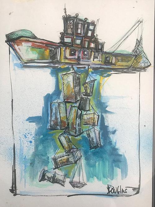 """Fishing Boat"" Keith Douglas"