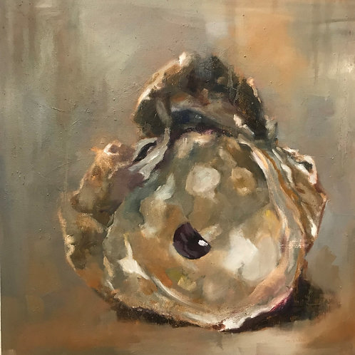 """Oyster"" 20x20 Heather Ricard"