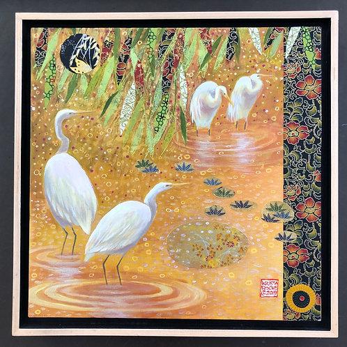 """Wetland Tapestry"", 12x12, Krista Roche"