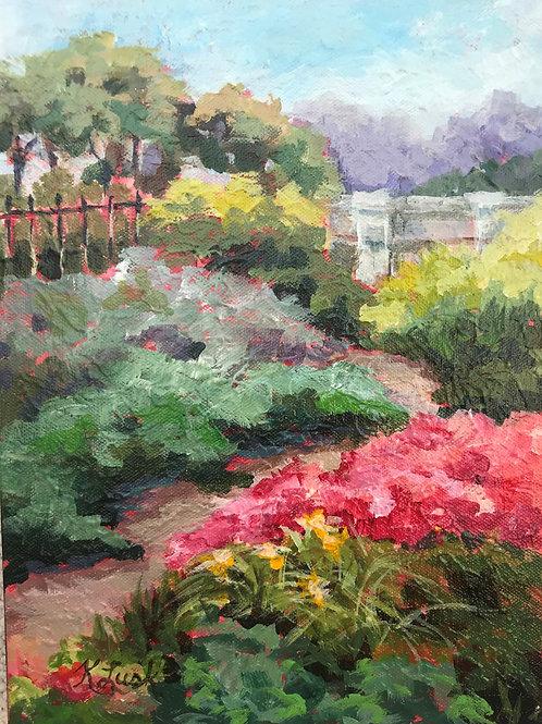 """""""Giverny Gardend II"""" 12x9 Kay Lusk"""