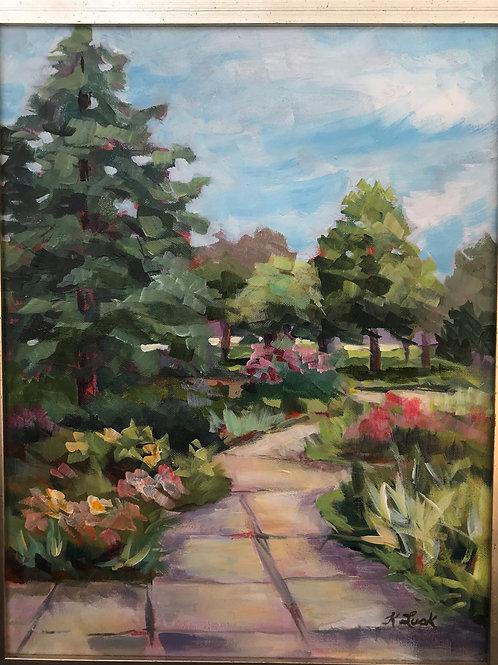 """Cypress Pathway"" 18x14 Kay Lusk"