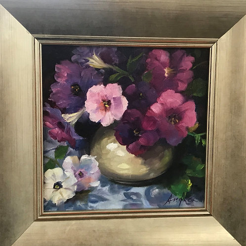 """Pretty Petunias"" 8x8 Andrea Phillips"