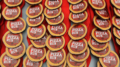 pizza run medals