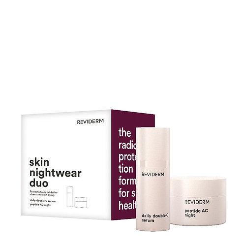 skin nightwear duo (peptide AC night + daily double C)