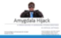 Slide from Amygdala Hijack workshop of man grimacingwhile gripping a steering wheel