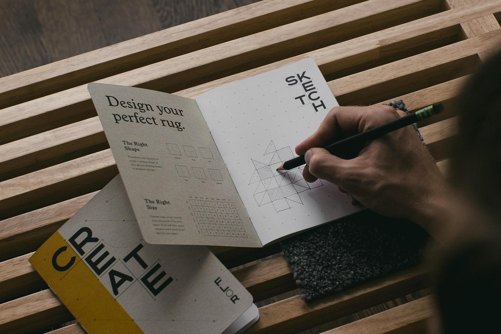 FLOR Rug Design Sketch Book