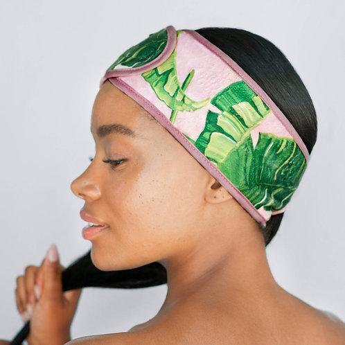 Microfiber Spa Headband (Palm Print)