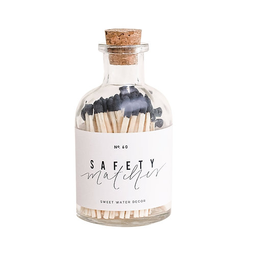 Black Small Safety Matches